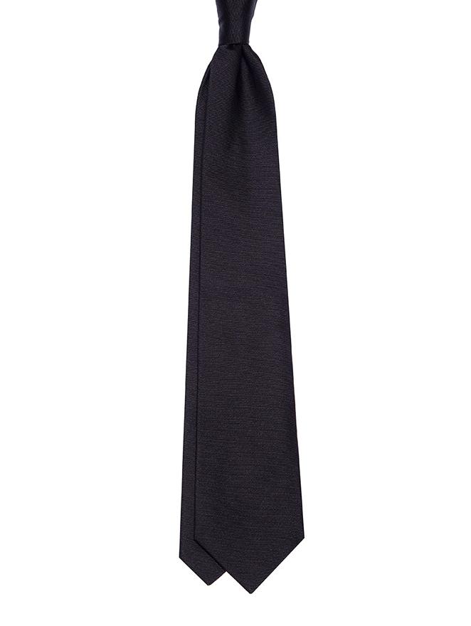 Twill silk necktie