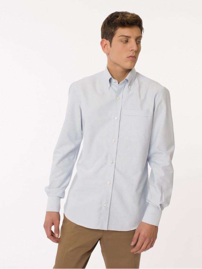 Oxford - cotton light blue shirt