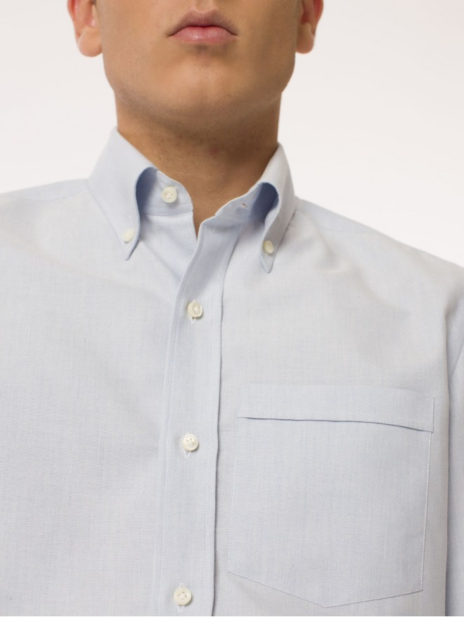 Oxford - cotton light blue shirt