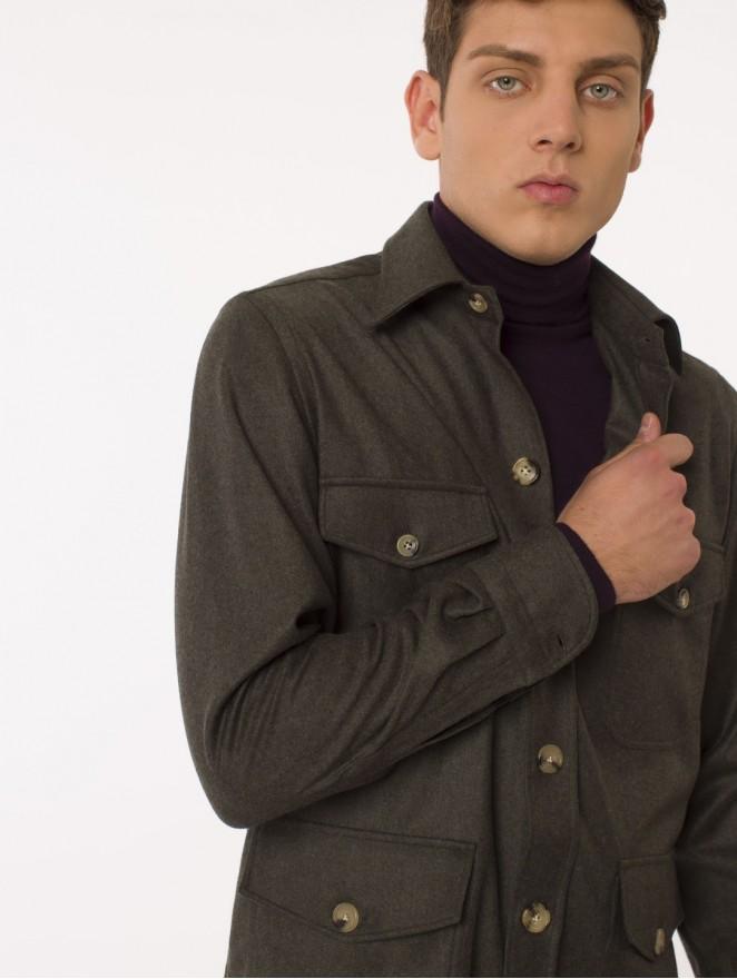 Cashmere blend Saharian shirt/jacket
