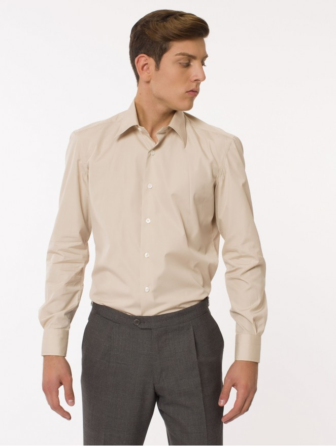 Beige cotton shirt