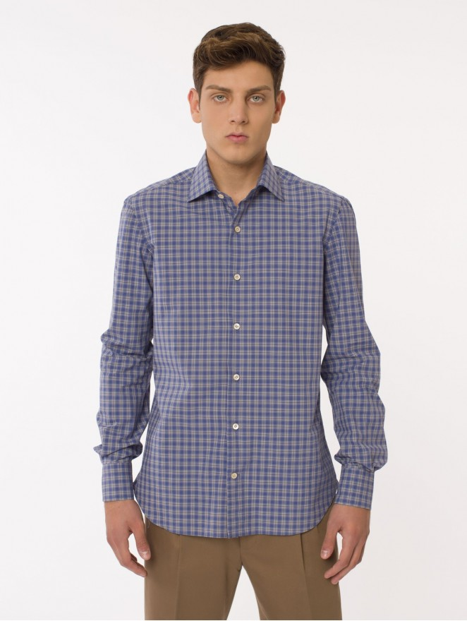 Texas - checked cotton shirt