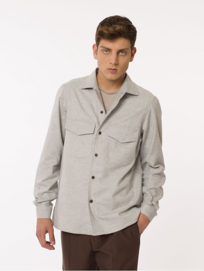 Wool & cashmere overshirt