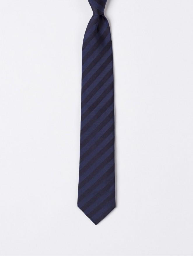 Jaquard silk necktie  blue regimental blue design