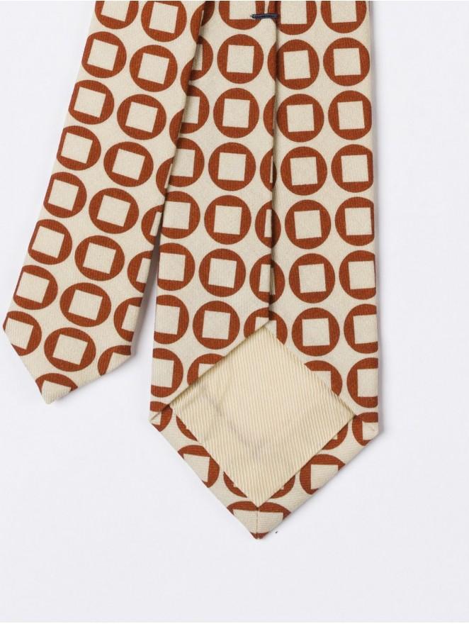 Printed wool necktie vintage design