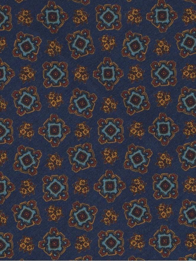 Silk and wool foulard
