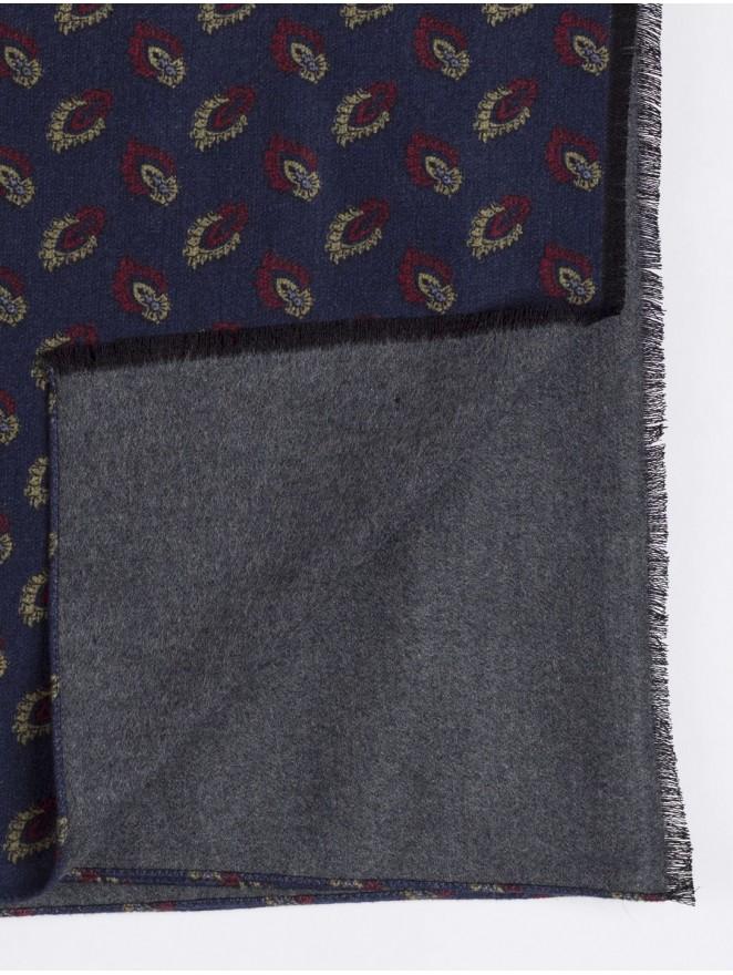 Silk brushed printed scarf