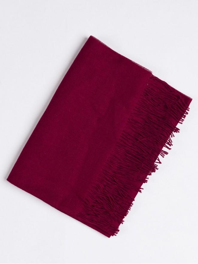 Red baby alpaca scarf