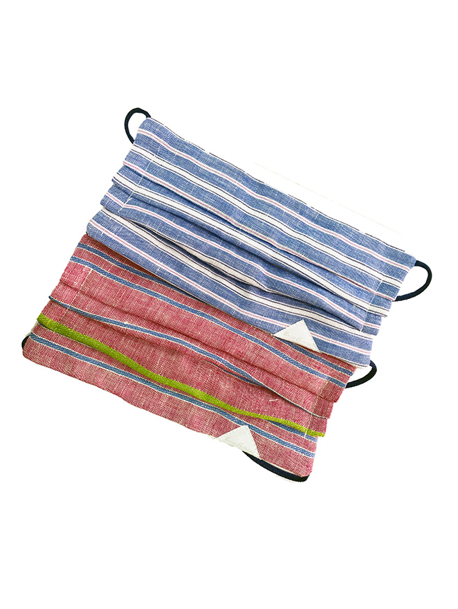 STRIPED TWO REUSABLE MASKS